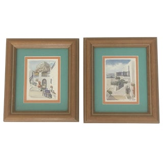 Coastal Beach Framed Prints - Pair