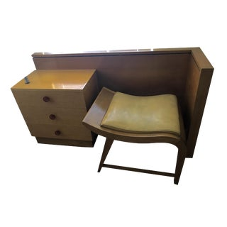 Original 1940's Gilbert Rohde Vanity & Bench - A Pair