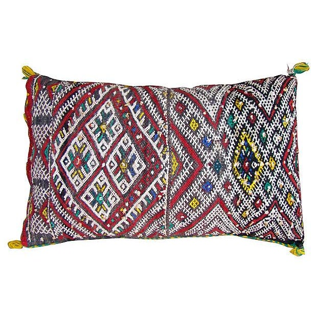 Moroccan Red Berber Sham Pillow - Image 1 of 2