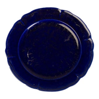 A gorgeous cobalt blue glazed earthenware charger from France c.1850