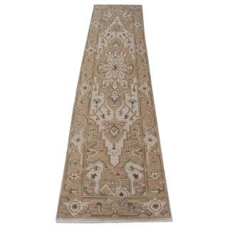 Hand-Woven Wool Soumak Runner- 2′6″ × 10′