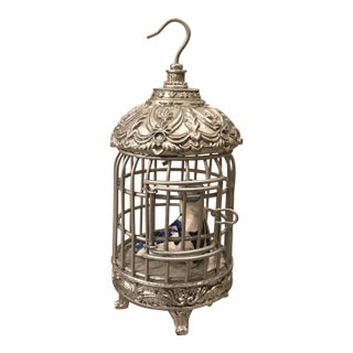 Miniature Birdcage and Pottery Bird