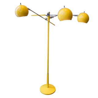 Yellow Three Arm George Kovacs Standing Lamp