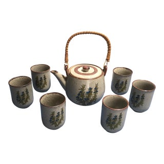 Vintage Takahashi Stoneware Tea Set - Set of 8