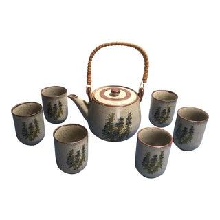 Vintage Takahashi Stoneware Tea Set - Set of 8
