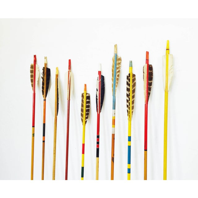 Vintage Neutral Colored Wood Arrows - Set of 10 - Image 5 of 5