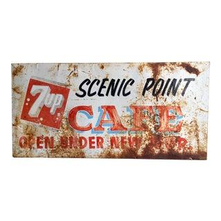 Vintage Original 7UP Cafe Sign