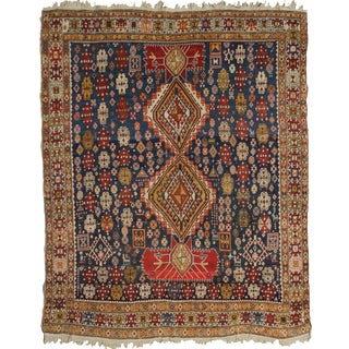 """Hand Knotted Antique Sharawan Rug - 5'9"""" X 5'0"""""""