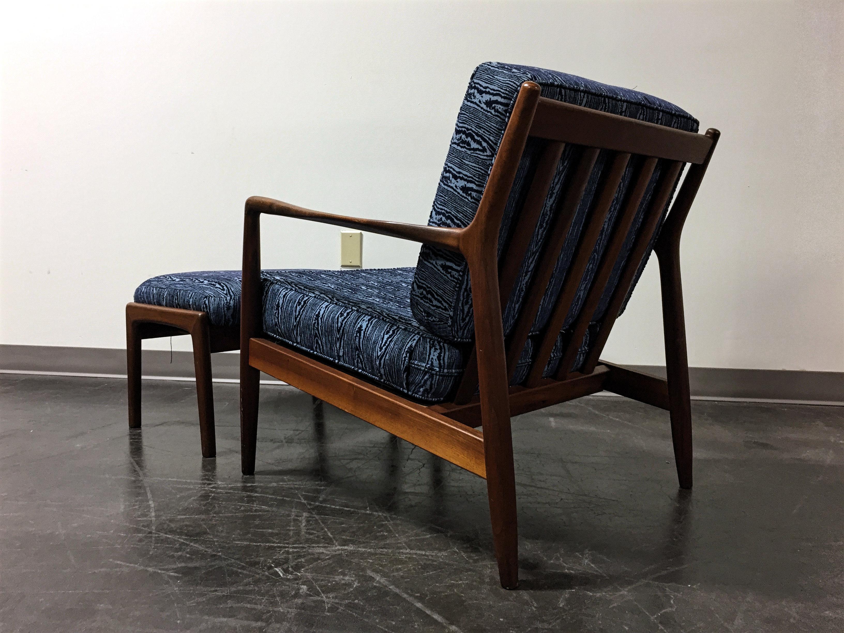 Folke Ohlsson Dux Sweden Mid Century Danish Modern Teak Lounge