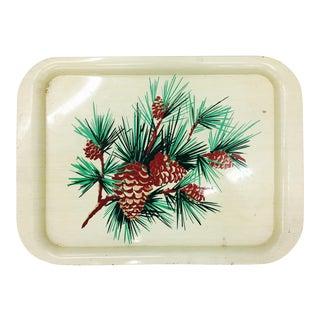 Vintage Pine Tree & Cone Tray