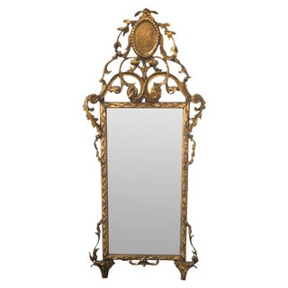 18th C. Continental Giltwood Mirror