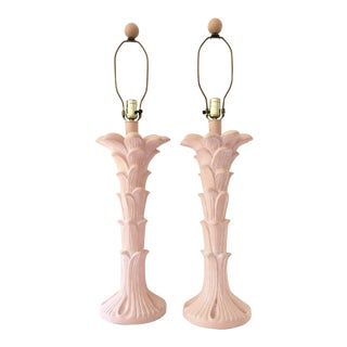 Serge Roche Style Palm Tree Table Lamps - A Pair