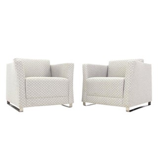 Pair of Bernhardt Upholstered Lounge Chairs