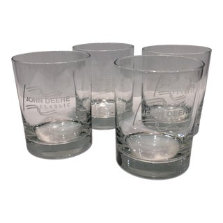 """John Deer Classic"" Etched Crystal Glasses - Set of 4"