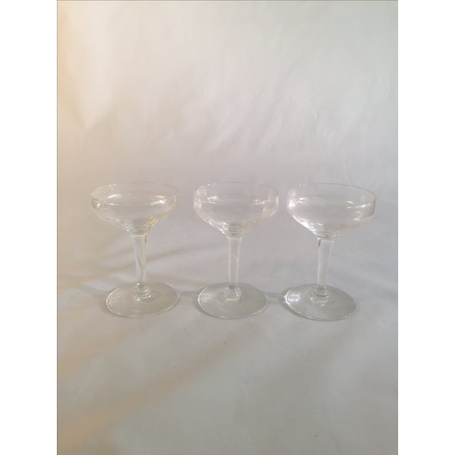 Antique Champagne Glasses - Set of 3 - Image 4 of 6