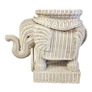 Rattan Elephant Table