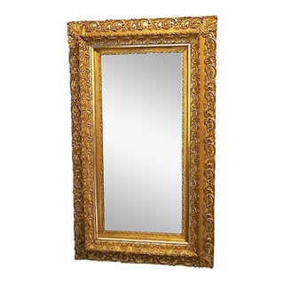 Antique 19th C. Ornate Gilt Gold Beveled Mirror