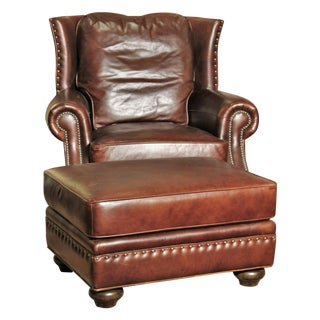 Vanguard Explorer Leather Chair & Ottoman