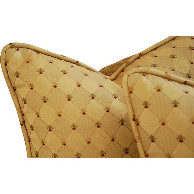 Custom French Golden Fleur-De-Lis Pillows - A Pair - Image 4 of 7