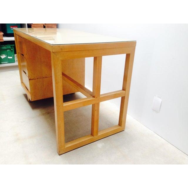 Mid Century Desk in Blonde Oak Finish - Image 5 of 7