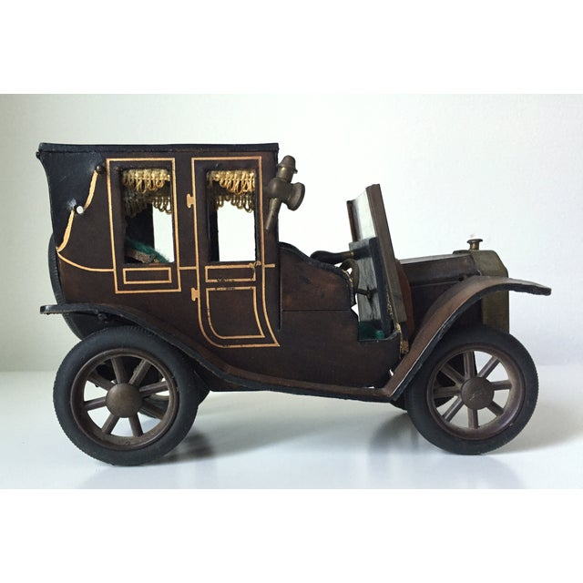 Lancia 1910 Leather Car Model - Image 2 of 5