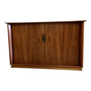 Mid-Century Walnut Credenza With Sliding Door