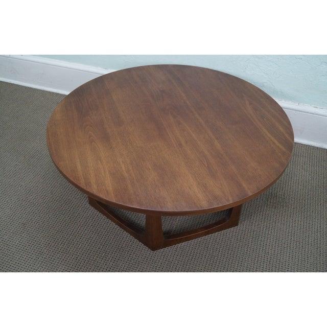 Mid Century Modern Round Walnut Coffee Table Chairish