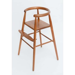 Teak Child's Modern High Chair Nanna Ditzel for Kolds Savvaerk