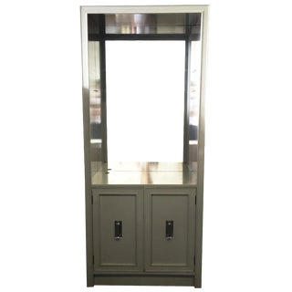 Gray Cabinet with Lucite Handles