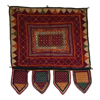 Indian Embroidered Mirrored Door Valance