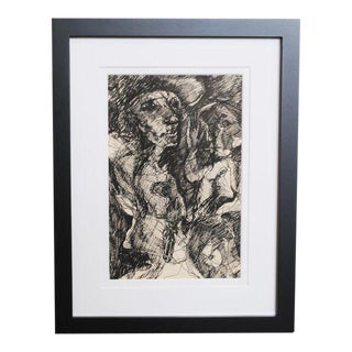 1960s Expressionist Drawing