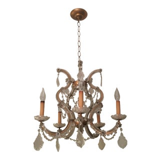 Antique Maria Theresa Crystal Chandelier