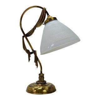 French Art Nouveau Style Desk Lamp