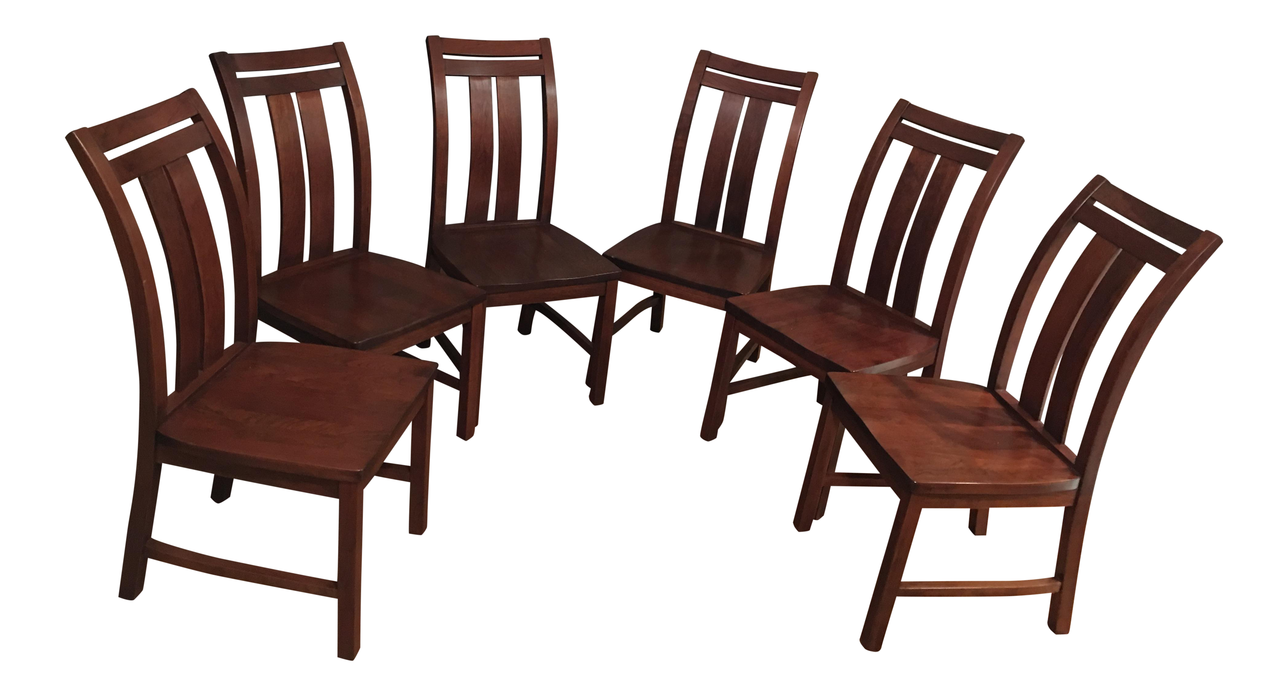 solid cherry dining room chairs set of 6 chairish