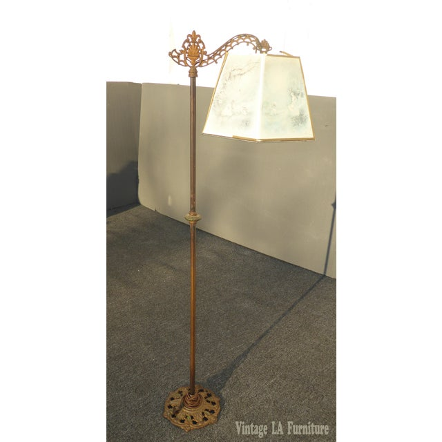 Image of Antique Andres Orpinas Victorian French Country Metal Floor Lamp
