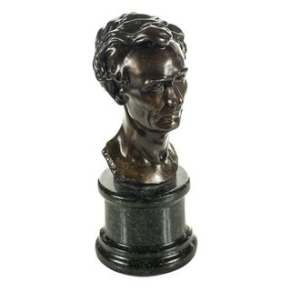 Leonard Volk Style Solid Bronze Abraham Lincoln