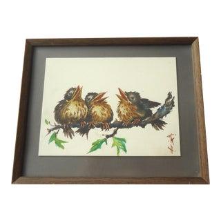 Study of Three Birds Painting