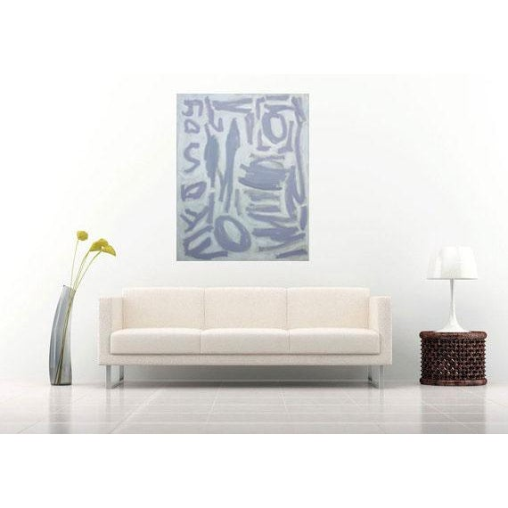 """Image of Susie Kate """"Gray and White Abstract"""" Painting"""
