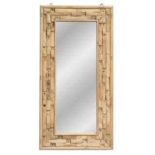 Vintage Sarreid LTD Elm & Pine Framed Mirror
