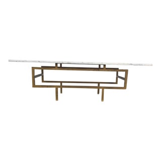 Asian Marble & Brass Coffee Table