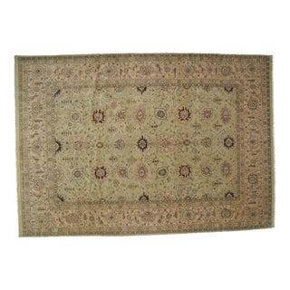 "Hand-Woven Agra Carpet - 12'7"" x 8'10"""