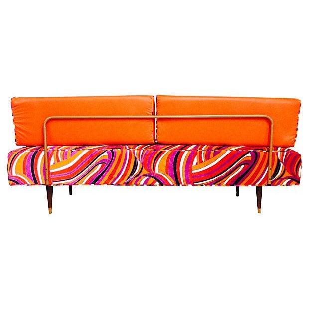 Vintage Mod Upholstered Daybed - Image 2 of 7