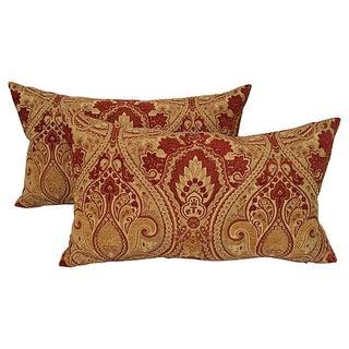 Velvet Fleur De Lis Pillows - A Pair