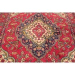 "Image of Vintage Red & Blue Persian Rug - 4'8"" X 6'3"""