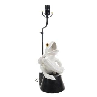 Mid-Century White Porcelain Lamp