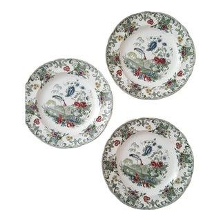 Green Copeland Plates - Set of 3
