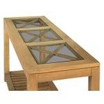 Image of Sarreid LTD Oak Cross Wall Table