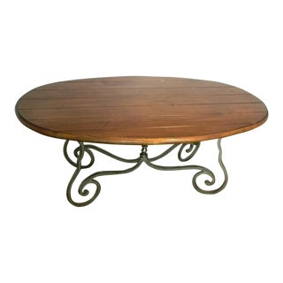 Harden Furniture Iron & Wood Rustic Coffee Table