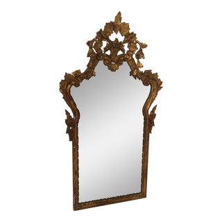Antique Italian Gothic Gold Leaf Mirror