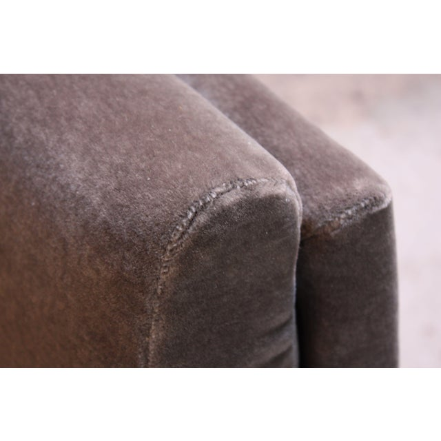 Early Jens Risom Walnut and Mohair Lounge Chair - Image 8 of 11